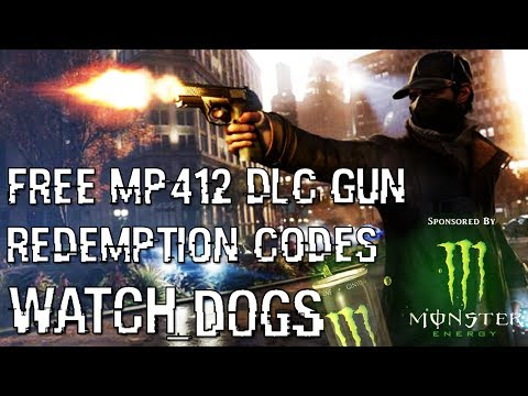 Watch Dogs: FREE MP412 DLC Redemption Codes for Xbox 360. Xbox One. PS4 & PS3
