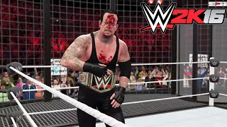 WWE 2K16- WWE World Heavy Weight Championship Elimination Chamber Match 2015 (PS4)