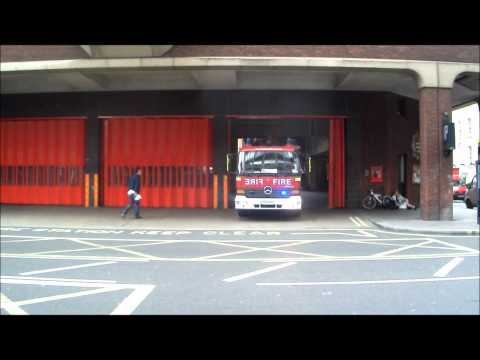 London Fire Brigade - A242 Soho Pump Turnout