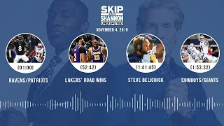 Ravens/Patriots, Lakers, Whitehead's release, Kawhi + Jordan comparison | UNDISPUTED Audio Podcast