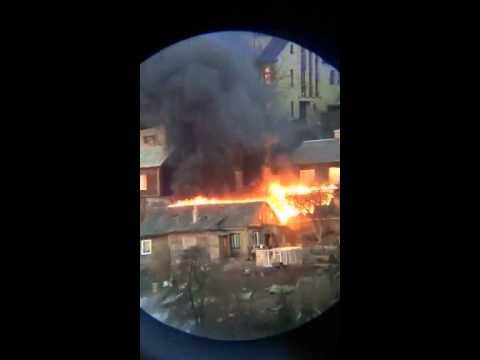 Skaitytojo video: gaisras Žaliakalnyje