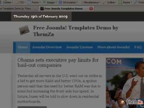 'Daily News' Free Joomla 1.5 Template (Video Tutorial)