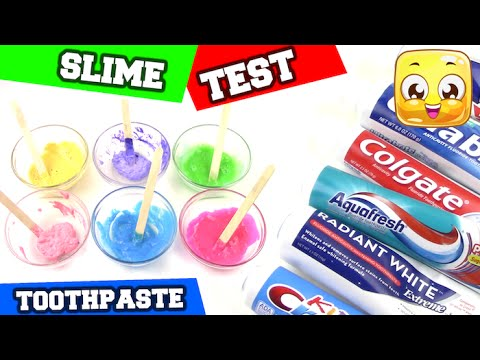 Toothpaste Slime Test DIY How To Make Toothpaste Slime without Borax or Liquid Starch! Easy Recipe