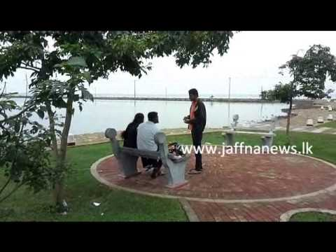 Jaffna News young lovers romance at public park
