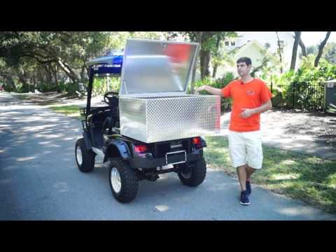Custom  Utility Golf Cart Cargo Box- MOto Electric Vehicles