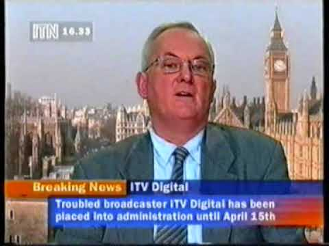 ITN News Channel report on ITV Digital collapse