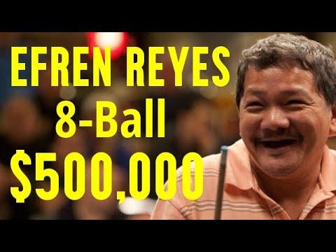 Reyes vs  Rodney Morris $500,000 8-ball. Newest upload!