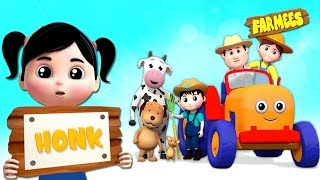 Tractor Wheels Go Round And Round | Nursery Rhymes For Children by Farmees