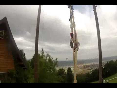Bungee Swing with Communications Director Wendy Mayer