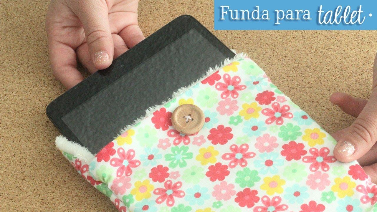 Como hacer una funda para tu tablet costura f cil youtube - Como hacer fundas de silicon ...
