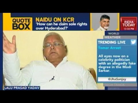 Lalu Prasad Yadav Exclusive On Grand Alliance In Bihar