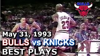 1993 Bulls vs Knicks game 4 HD highlights