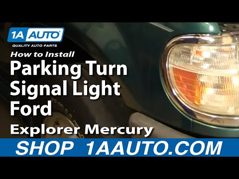 How To Install Replace Parking Turn Signal Light Ford Explorer Mercury Mountaineer 95-01 1AAuto.com