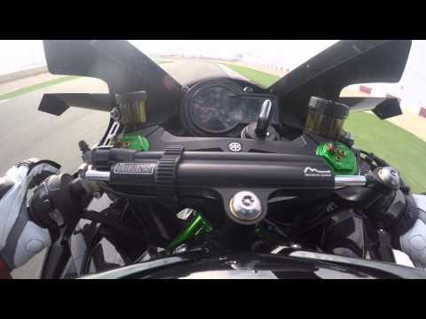 Kawasaki Ninja H2 R onboard Lap - Losail Circuit - 300 km/h - 300 PS