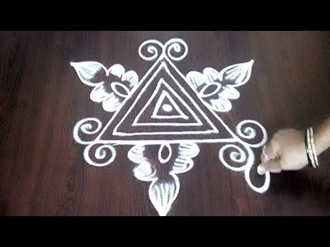 Beginners Freehand Muggulu  || Best Rangoli Design Without Dots || Fashion World