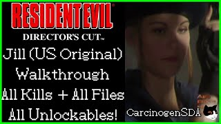 Resident Evil (PS1) Kill Everything Perfect Walkthrough - Jill Original [Commentated]