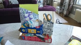 Back to School Craft: Desk Organization and Folder Covers