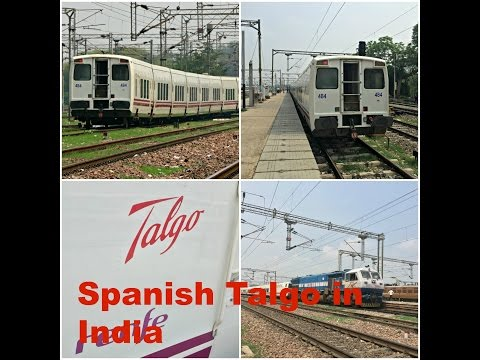 Exclusive Coverage of Spanish Talgo Train on Indian Railways Fastest Section!