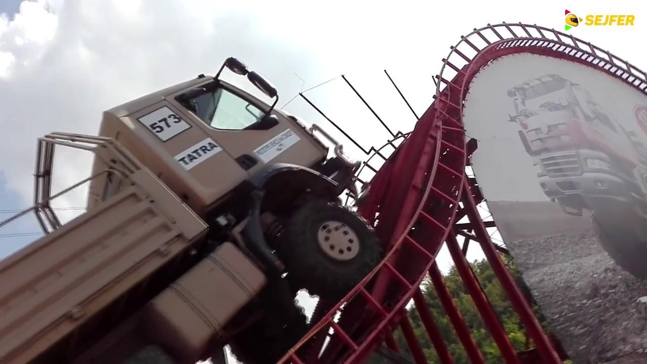 Video Přejezd nákladním automobilem přes největší technickou překážku
