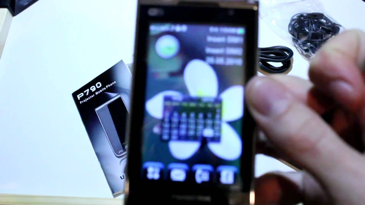 Review celular c projetor mfu p790 mp30 youtube for Mp30 projector