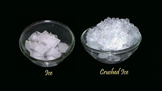 Ice & Crushed Ice - Indian Homemade Recipes - Telugu Vantalu