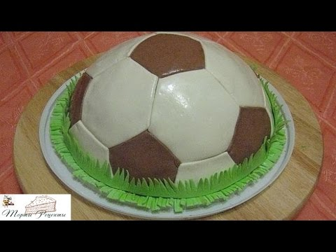 Как сделать торт футбольный мяч своими руками 41