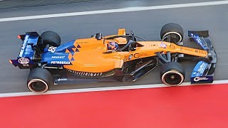 F1 2019 Testing Raw Pure Sound - McLaren MCL34 2019 Car Highlights from Circuit de Catalunya!