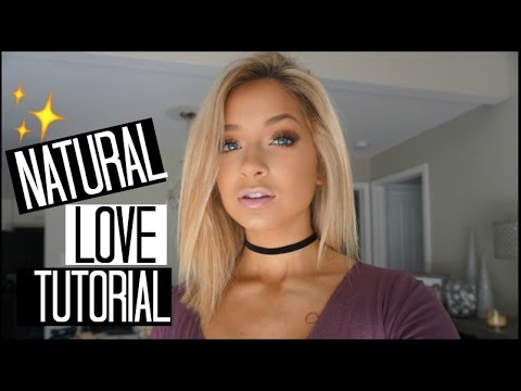 TooFaced Natural Love Eyeshadow Palette Makeup Tutorial   Copper Glitter Smokey Eye