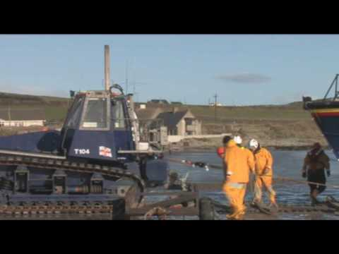 Clogherhead lifeboat comes ashore during SOS Radio Week