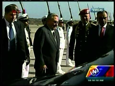 Raúl Castro llega a Venezuela para participar en actos en honor a Chávez