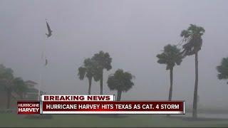 Hurricane Harvey strengthens to Cat 4, Texas prepares for