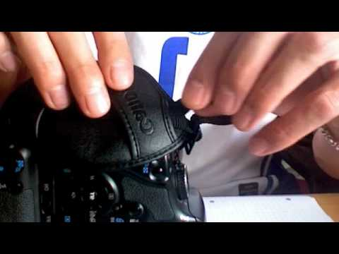 How to install Canon e1 hand strap