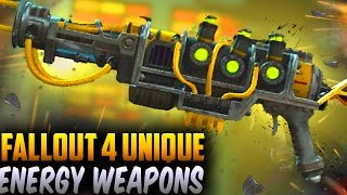 Fallout 4 Rare Weapons - TOP 14 Secret, Unique & Best Energy Weapons!