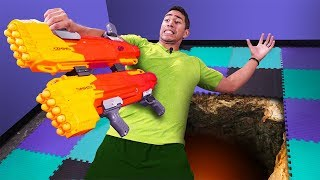 NERF Don't Fall Off Challenge!