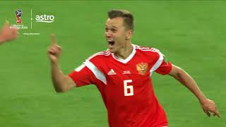 Russia 3 - 1 Egypt | 2018 FIFA World Cup | Astro Supersport