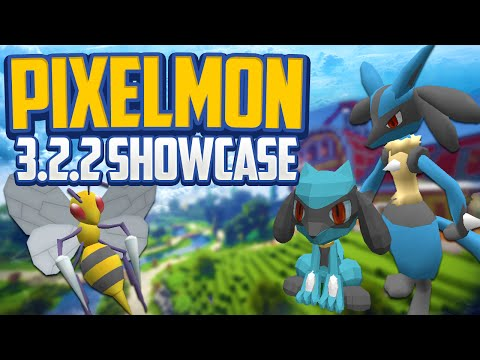 Minecraft Pixelmon 3.2.2 Mod Showcase! Lucario Line! New Animations, Berries + More [1.7.10]
