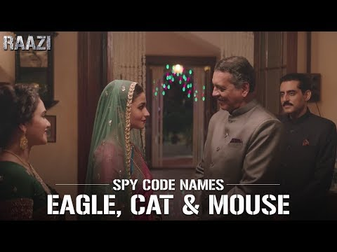SPY Code Names - Eagle, Cat, Mouse | Raazi | Alia Bhatt | Meghna Gulzar | Releasing on 11th may thumbnail