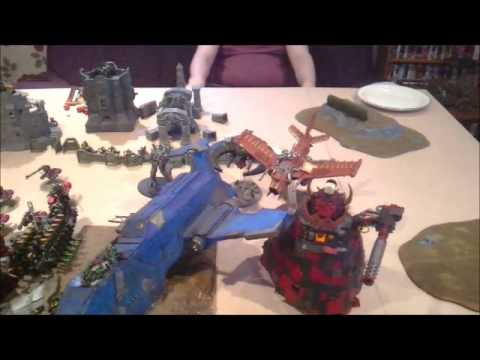 Warhammer 40K Battle Report - 8000pts Apocalypse - Orks & Necrons VS Space Marines & Imperial Guard