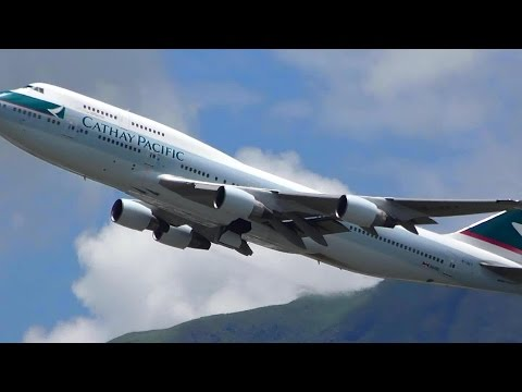 Hong Kong Airport Plane Spotting. Sunset Takeoffs and Landings and More