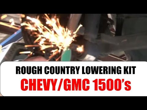 Rough Country Lower Kit Installation - Chevy/GMC 1500 Truck Lowering Kit - Tutorial and Review