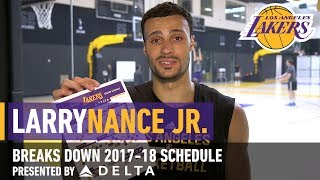 Larry Nance Jr. Breaks Down The 2017-18 Schedule