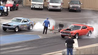1969 Mustang vs 1967 Mustang Drag Race