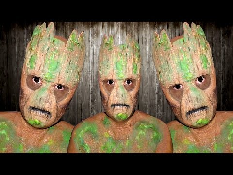 Guardians of the galaxy - Groot Makeup Tutorial