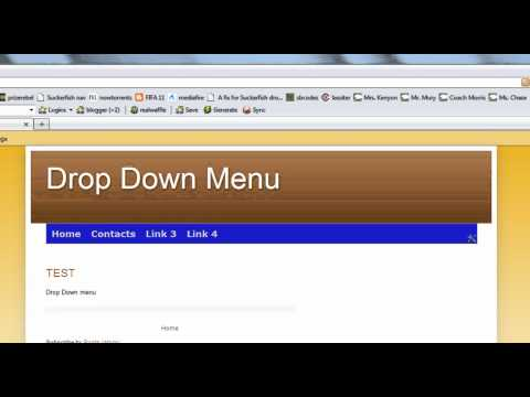 Add pure CSS horizontal drop down menu to blogger