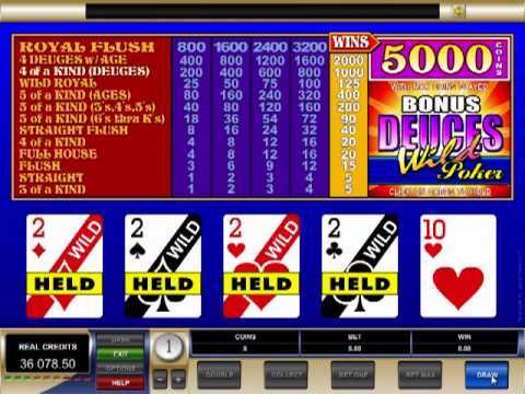 EmuCasino Online Video Poker - Deuces Wild
