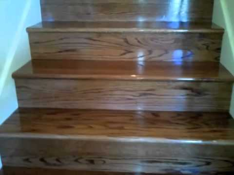 Carpet Stairs To Stained Oak Stairs Youtube