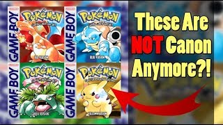 Pokemon Theory: Pokemon Red, Blue, Yellow, and Green are NOT Canon?!