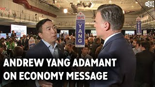 Andrew Yang confident in economy message delivered at debate