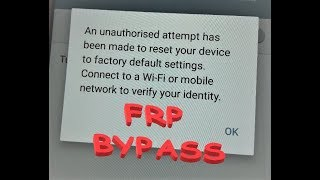 How to bypass FRP Factory Reset Protection on Samsung devices without any PC or OTG - Version 6.0.1