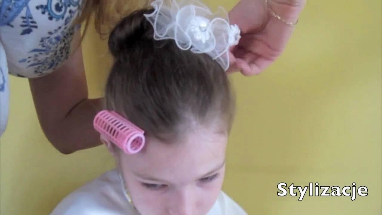 UPICIA NA PIERWSZ KOMUNI / FIRST COMMUNION UPDOS - Cute Girls Hairstyles Youtube